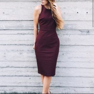 Banana Republic 00P Sloan Fit Burgundy Dress